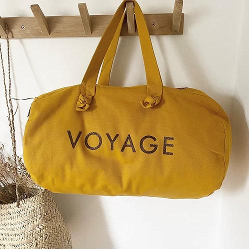 sac polochon - moutarde- VOYAGE