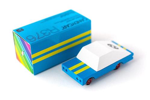 Petite voiture en bois - Bleue