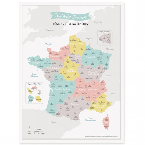 Affiche Carte de France
