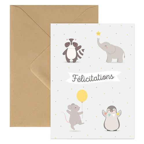Carte Félicitation Animaux