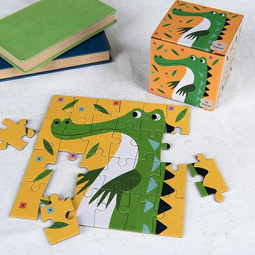 """Mini Puzzle 24 Pièces """"Harry Le Crocodile"""""""