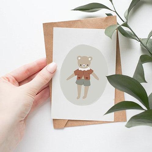 Carte Mon petit ourson