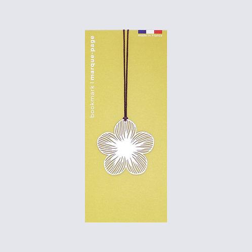 Marque-page en métal Fleur