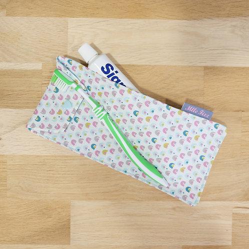 Étui pour brosse à dents en coton lavable