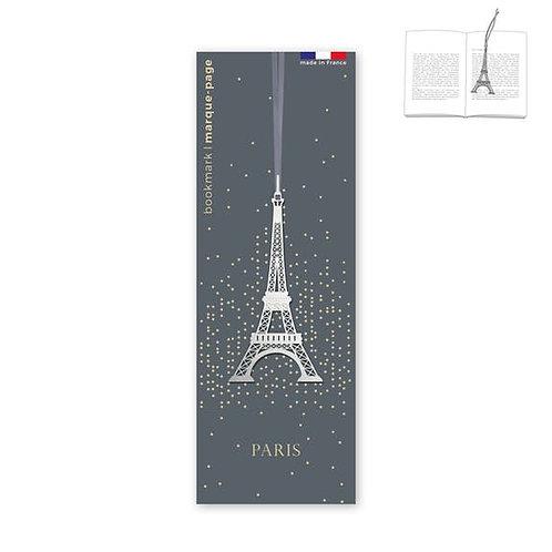 Marque-page en métal Tour Eiffel Argenté