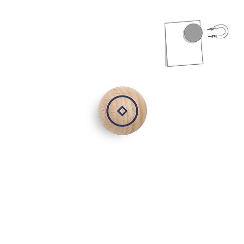 Boule magnétique cible bleue