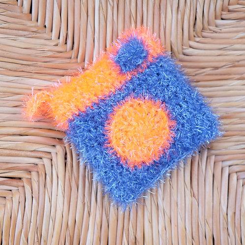 Tawashi - Appareil photo bleu et orange fluo