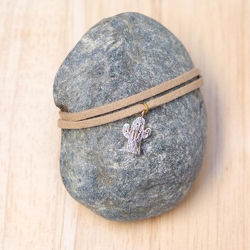 Bracelet suésine / Cactus