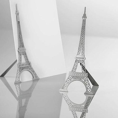 Porte-photo magnétique en métal avec pied Tour Eiffel