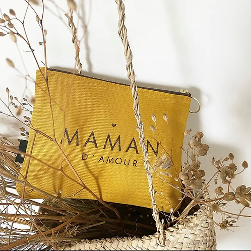 Trousse moutarde - Maman d'amour
