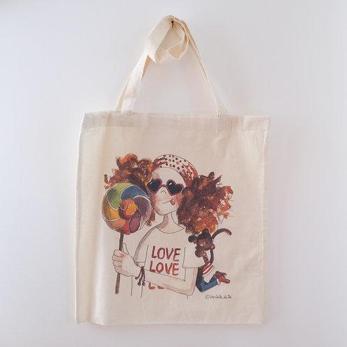 Tote bag - Fille Love Love