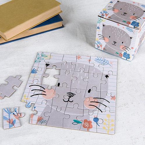 "Mini Puzzle 24 Pièces ""Lilly le chat"""