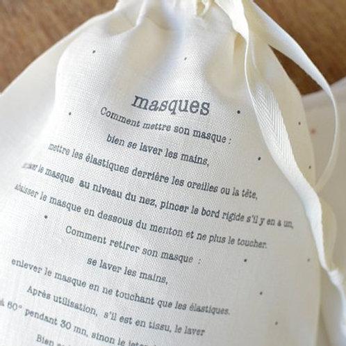 Pochette Masque - Gris