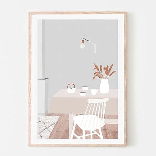 Affiche - Thé dans la salle à manger