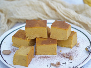 Healthy Pumpkin & Peanut Butter Fudge (low-sugar, flourless, dairy-free, vegan)