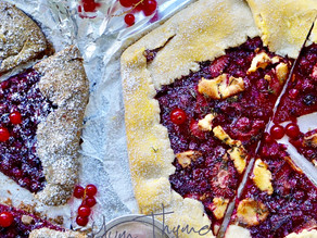 Buckwheat Galette with Red & Black Currant (high in fiber, low in sugar)