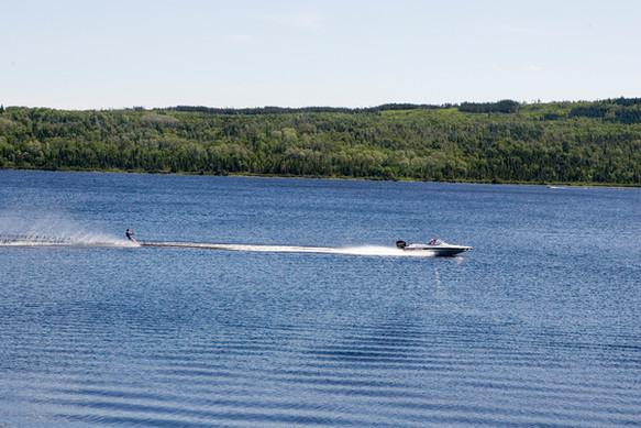 Water Skiing at Catamaran Park, Baie Verte