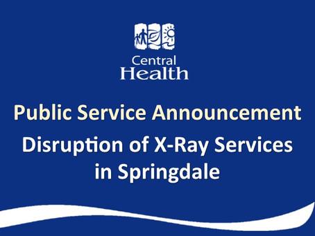 X-Ray machine back in service in Springdale