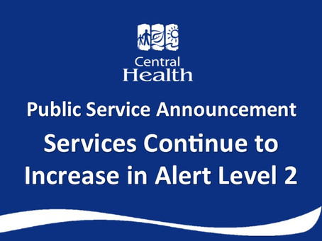 Services Continue to Increase in Alert Level 2