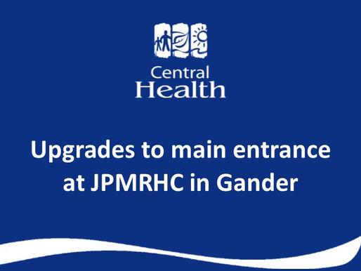 Upgrades to main entrance at James Paton Memorial Regional Health Centre in Gander