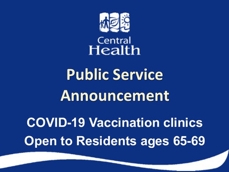 COVID-19 Vaccination Clinics Open to Residents Ages 65-69