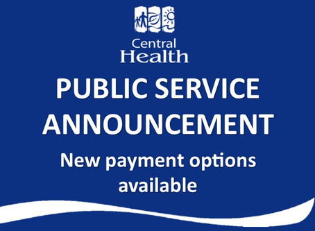 Central Health offering new invoice payment options