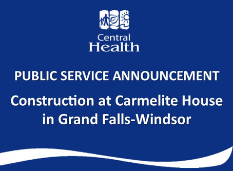 Traffic Diversion at Carmelite House in Grand Falls-Windsor
