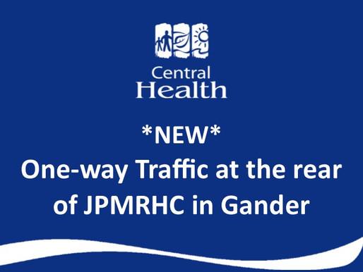 Upgrades to rear parking area at James Paton Memorial Regional Health Centre in Gander