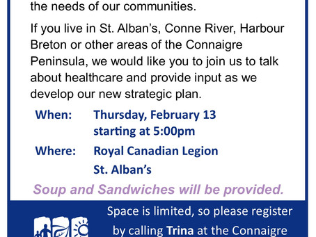 Community Engagement Session taking place in St. Alban's on February 13.