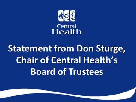 Statement from Don Sturge, Chair of the Board of Trustees