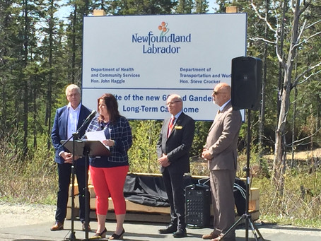 Sites Selected for Long-Term Care Facilities in Central Newfoundland