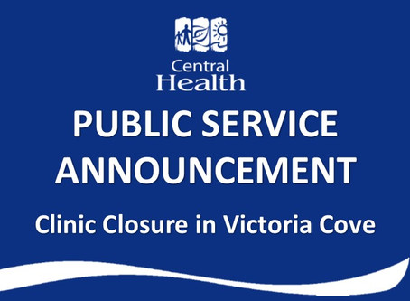 IMPORTANT INFORMATION regarding community health centre closure in Victoria Cove.