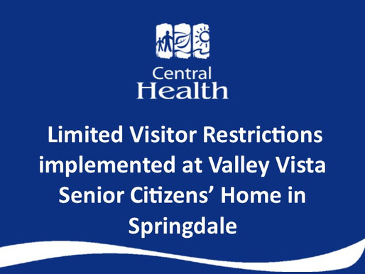 Limited visitor restrictions implemented at Valley Vista