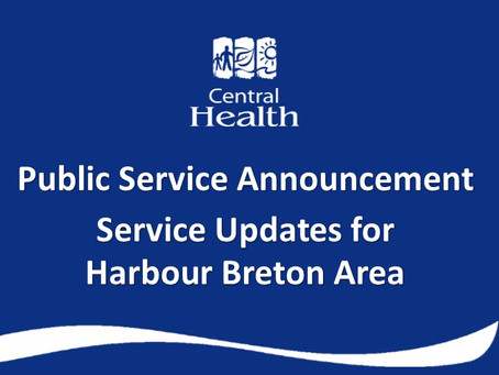 Service updates for Harbour Breton area