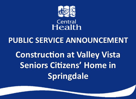 Construction at Valley Vista Senior Citizens' Home in Springdale.