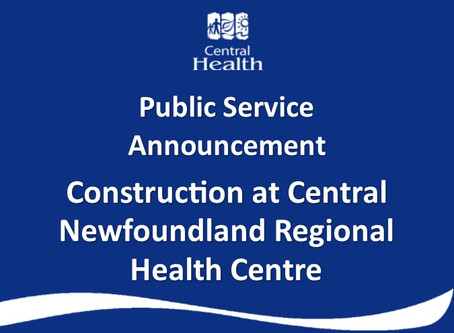 Construction at Central Newfoundland Regional Health Centre in Grand Falls-Windsor