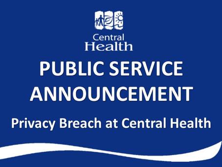 Privacy Breach at Central Health