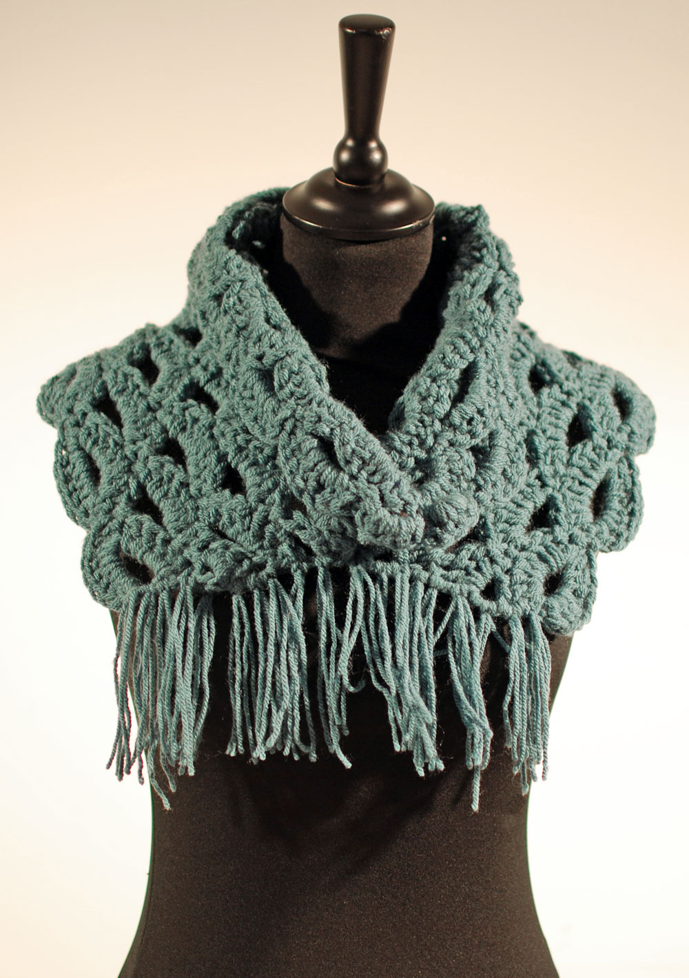 Col crochet franges
