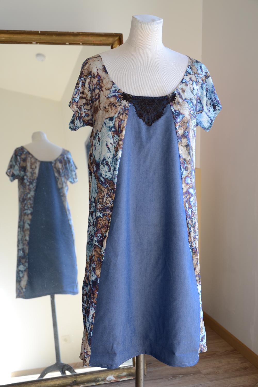 Robe Lili Poche Bleue