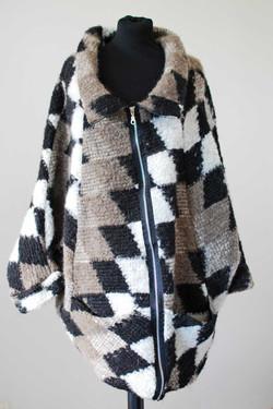 Manteau cape carreaux