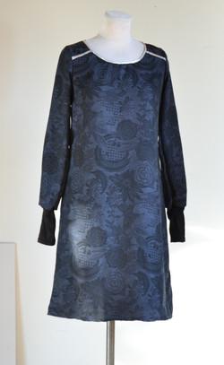 Robe biais argenté bleue