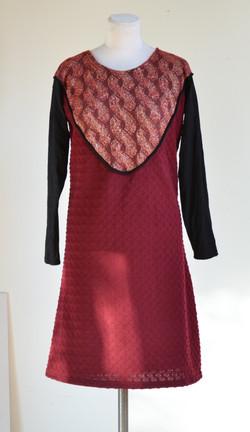 Robe plastron rouge
