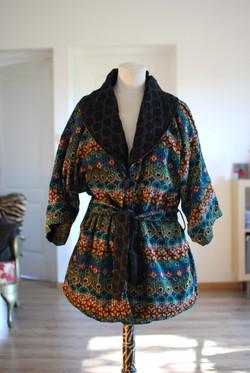 Veste kimono réversible
