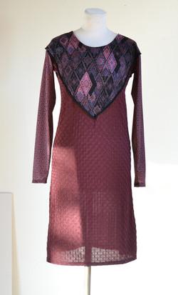 Robe plastron violette