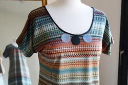 Robe Sequin Rayé