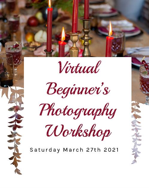 Virtual Seat for Beginner's Workshop