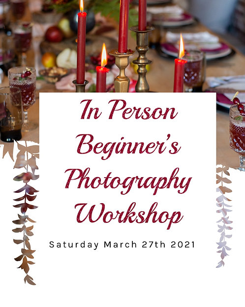 In Person Seat Beginner's Photography Workshop