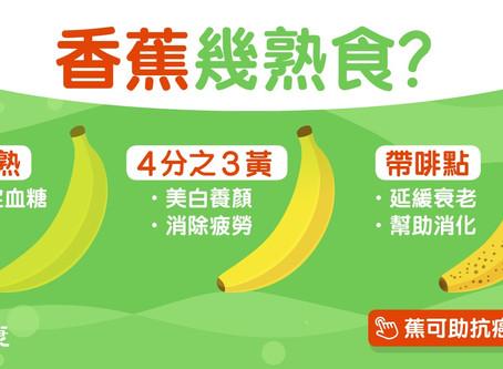 【香蕉營養】黃蕉美白防抽筋、斑點蕉助抗癌 半青蕉都有2大功效?