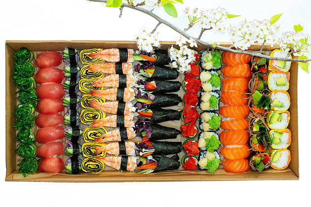 Deluxe Sushi Platter -  Boxed                                    (Free Delivery)