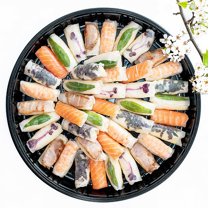 Assorted Rice Paper Rolls Large - Circular                       (Free Delivery)